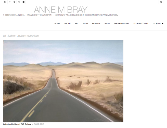 New Home Page, annembray.com